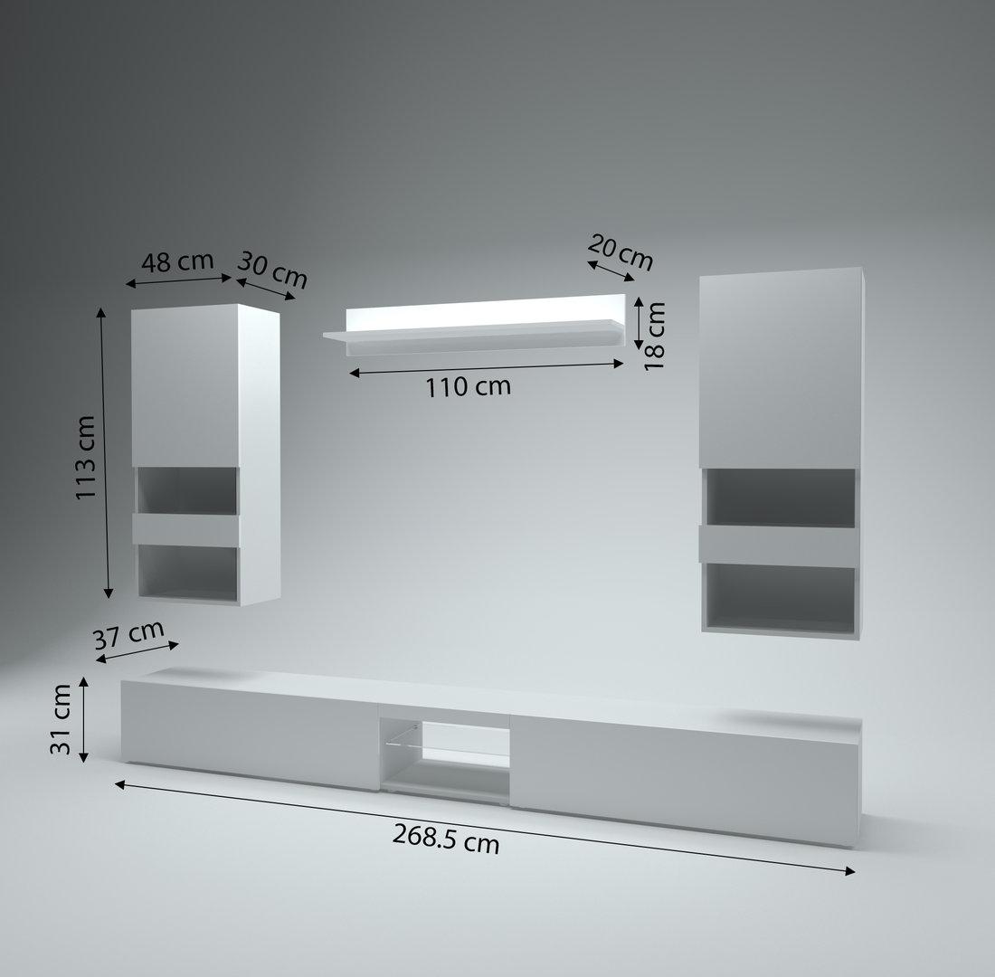 Soggiorno moderno trento mobile porta tv bianco elegante for Mobile soggiorno moderno bianco