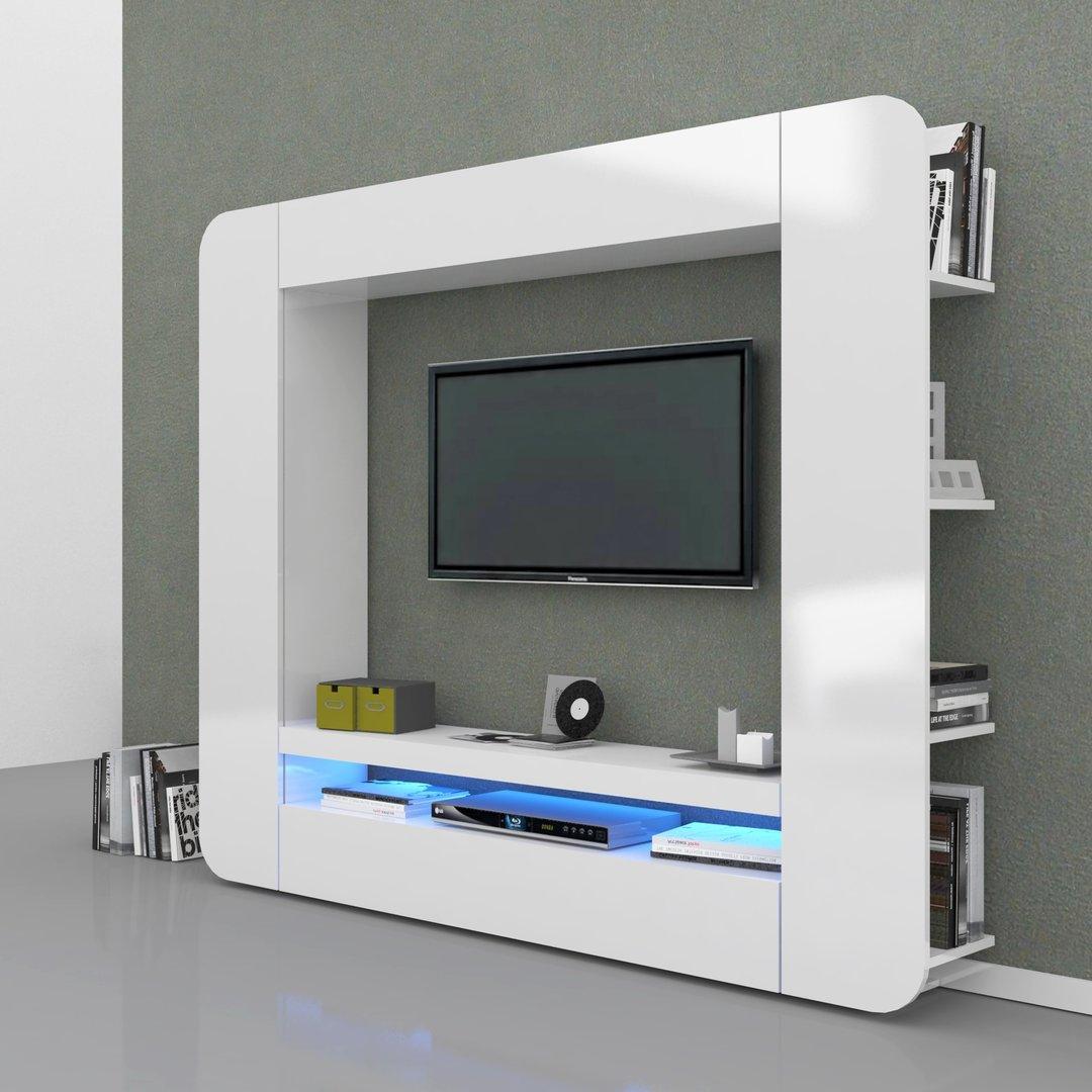 Soggiorno bianco o antracite zurigo mobile porta tv moderno - Parete soggiorno moderno ...