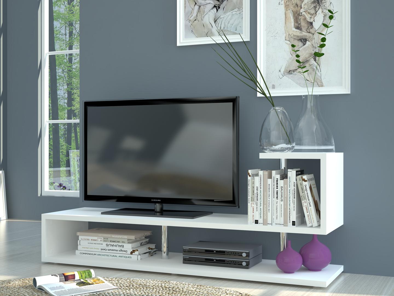 Porta tv bianco moderno Palermo, mobile per soggiorno, portatv dal ...