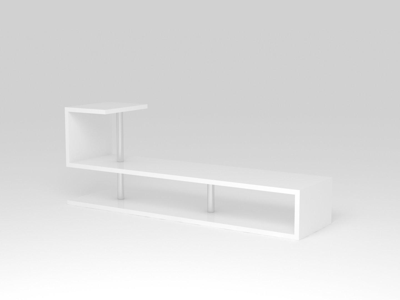 Porta tv bianco moderno Palermo, mobile per soggiorno, portatv