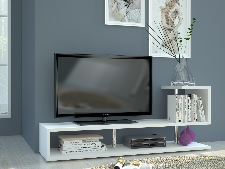 Porta tv bianco moderno palermo mobile per soggiorno portatv - Mobile moderno per soggiorno ...