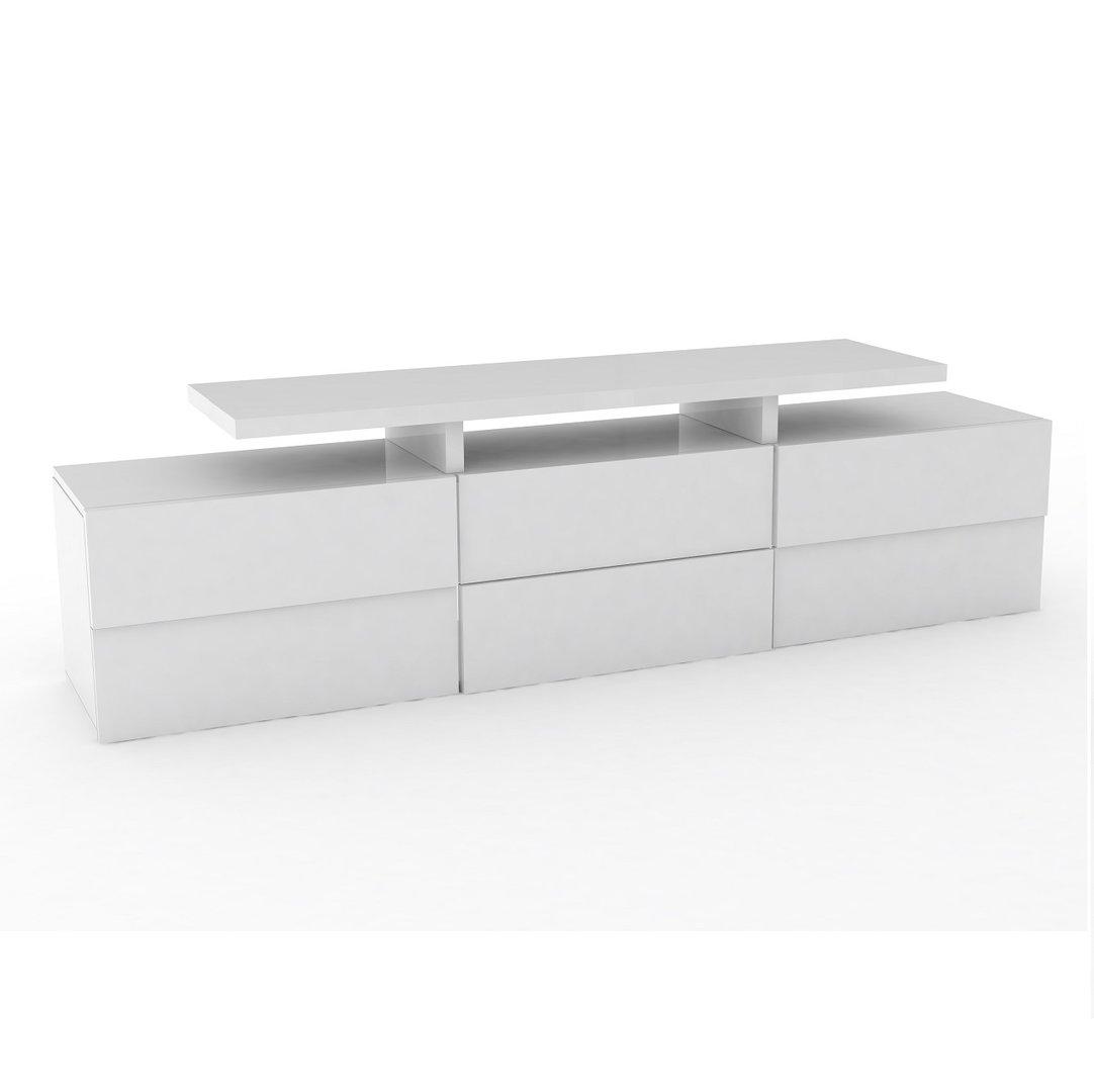 Porta tv moderno canada mobile soggiorno bianco o antracite - Porta tv bianco ...