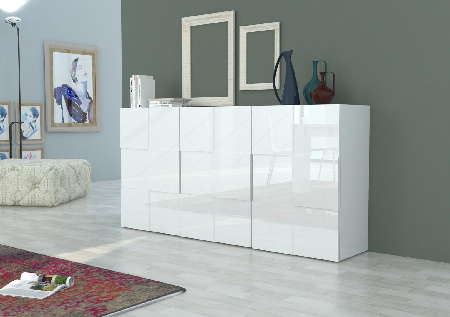 Madia moderna bianca o antracite canada mobile soggiorno for Foto designer