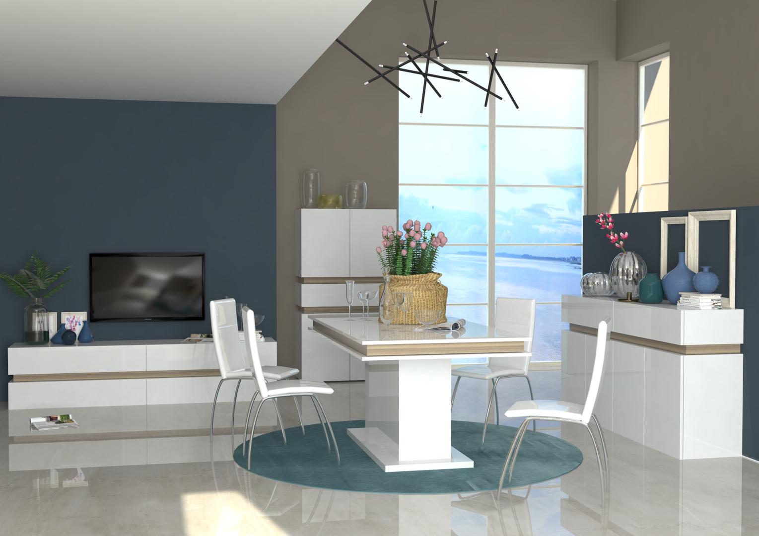 Porta tv capiente grecia mobile per soggiorno bianco o for Mobile sala design