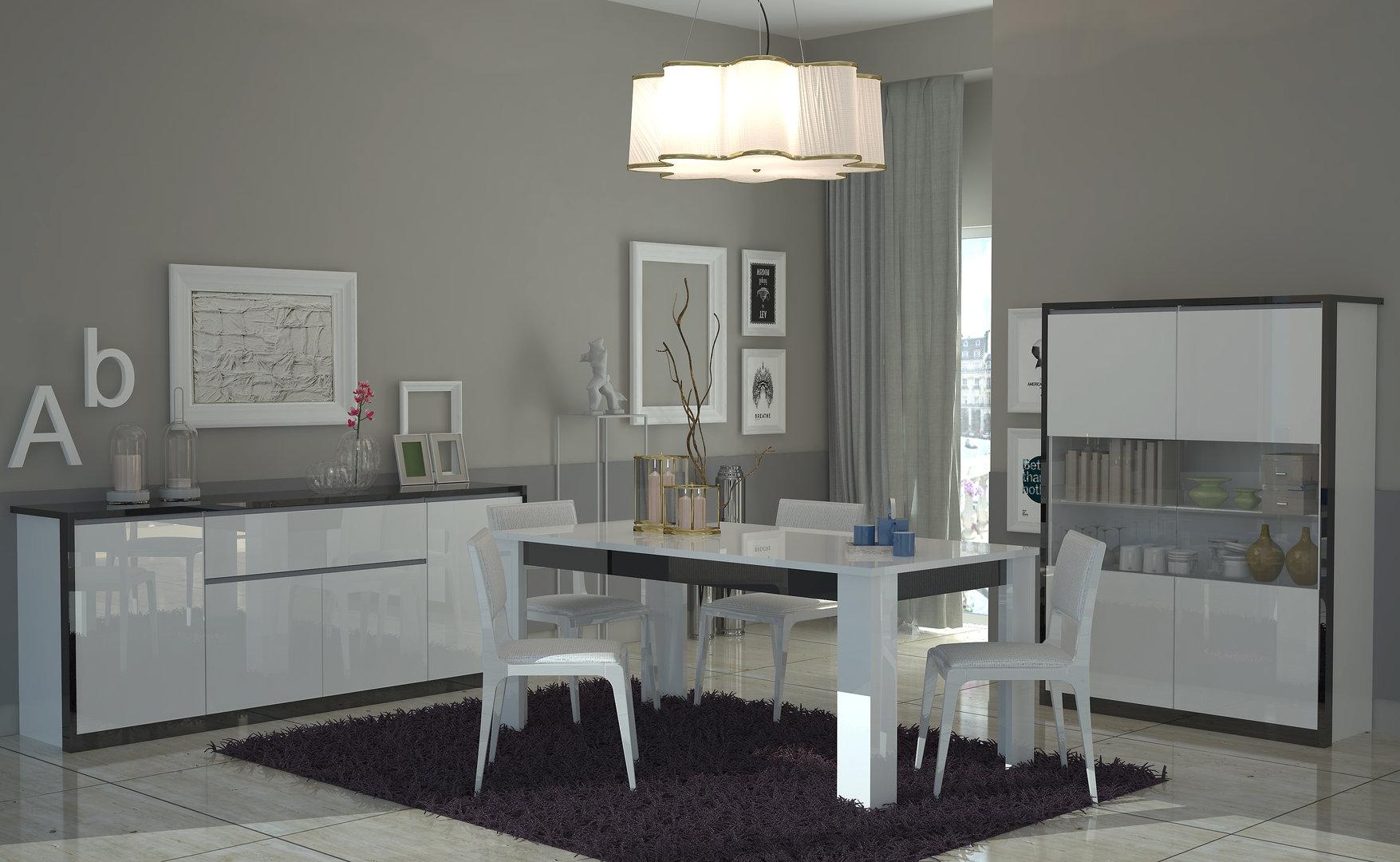Madia bianca Avana, credenza moderna, mobile soggiorno in 2 varianti ...