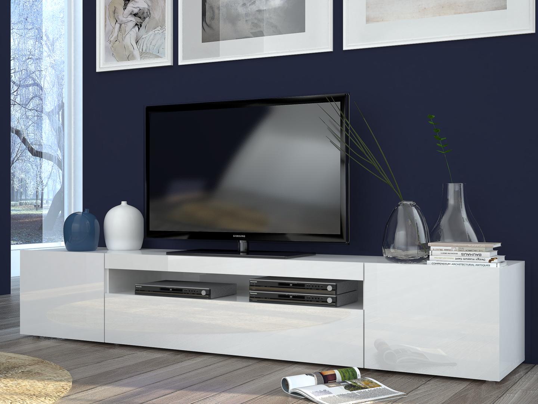 porta tv moderno mojito, mobile soggiorno in 2 misure e 2 colori - Design Soggiorno Moderno 2