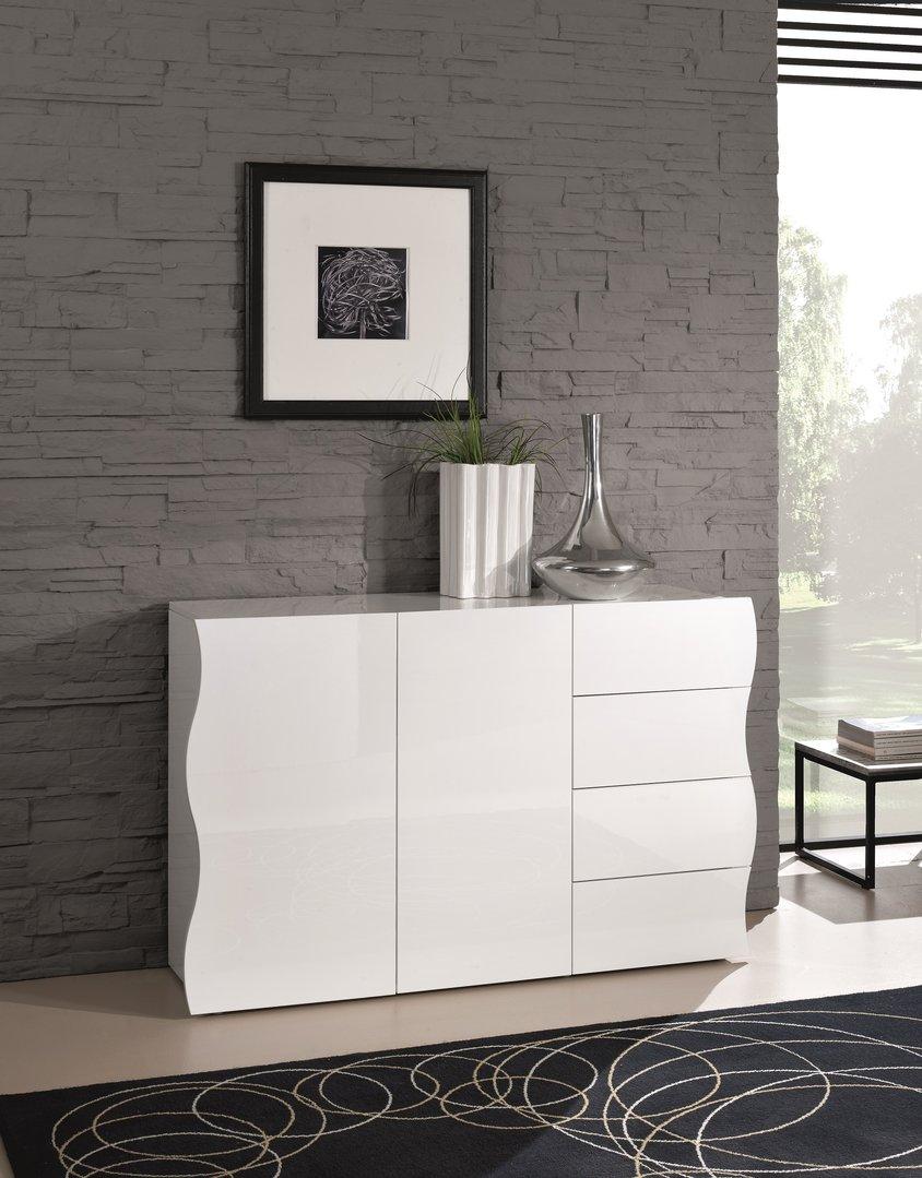 Madia moderna goccia com bianco per ingresso soggiorno - Camera soggiorno ...