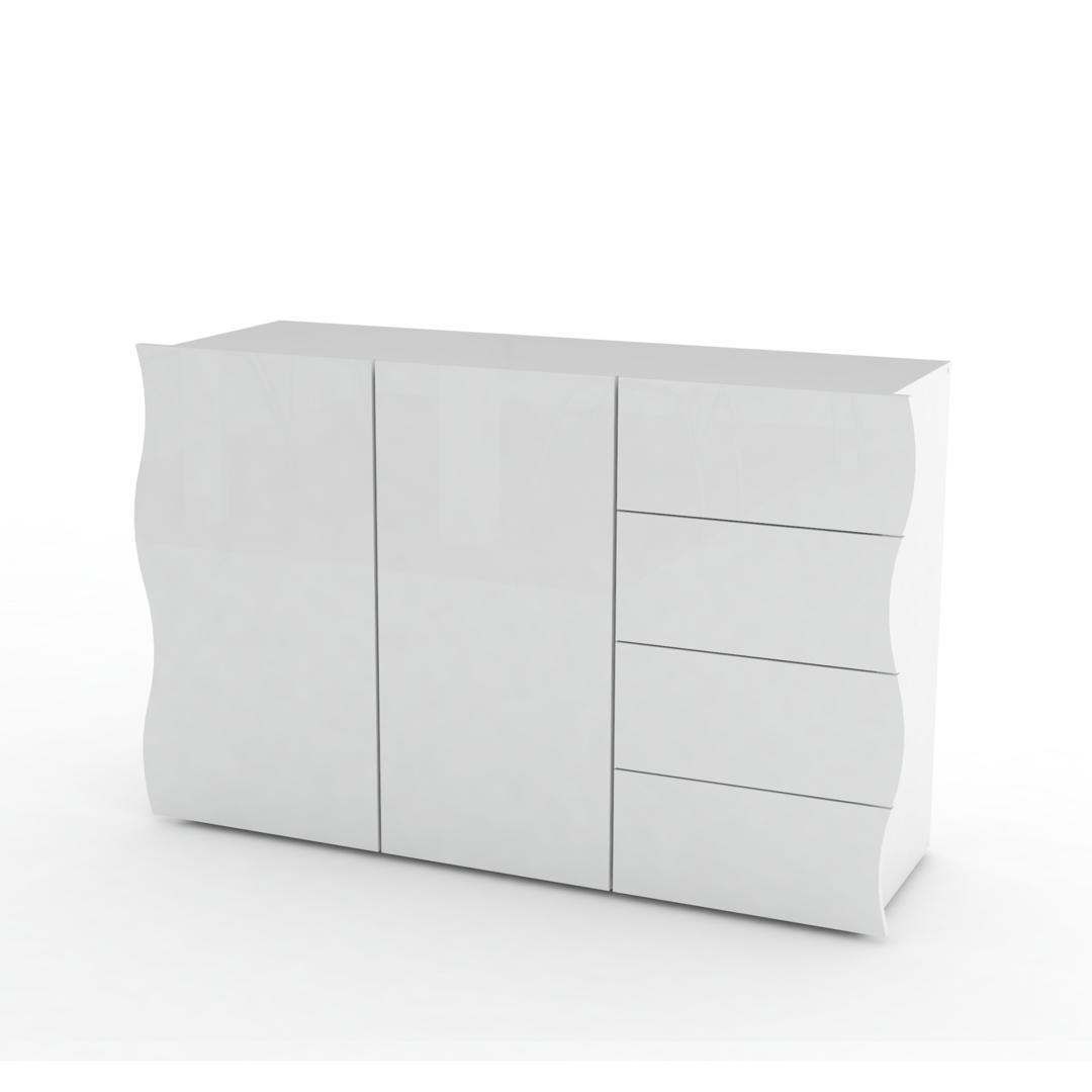 Madia Moderna Per Ingresso.Madia Moderna Goccia Como Bianco Per Ingresso Soggiorno Camera Mobile Luminoso