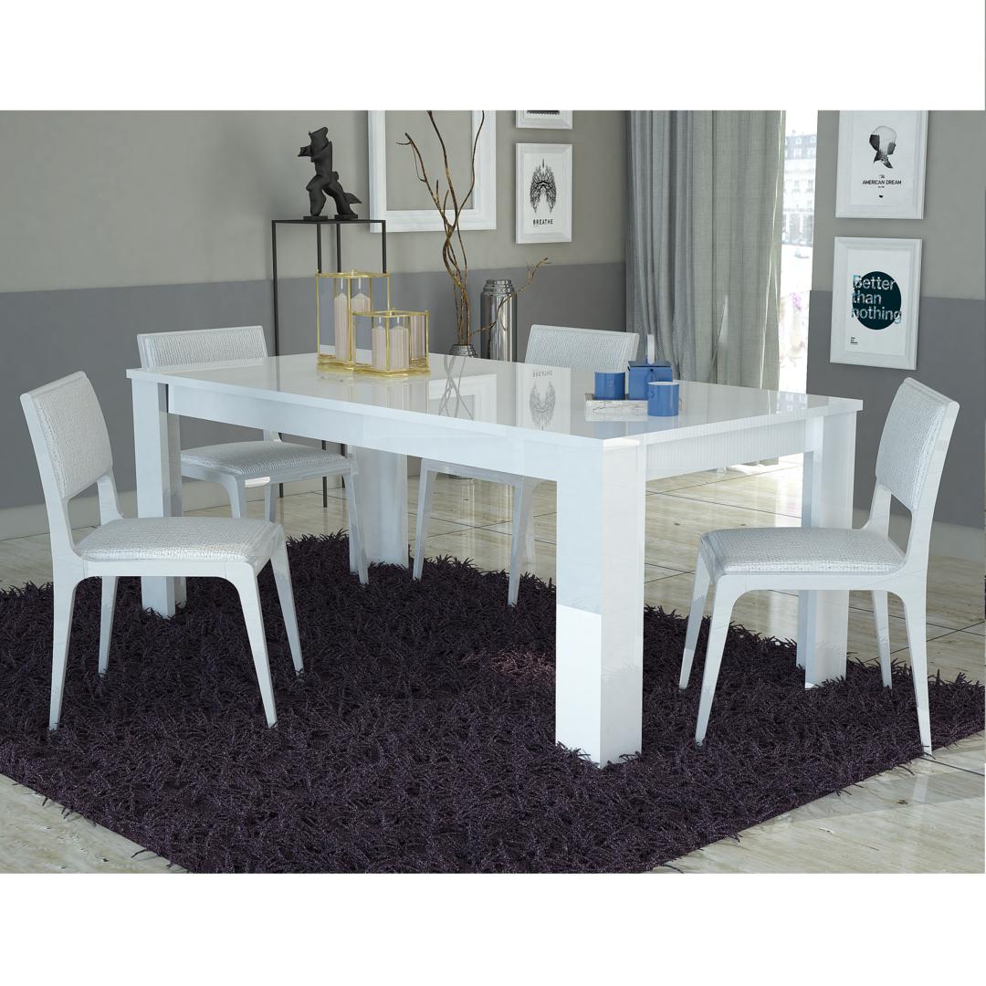 Tavolo bianco collezione avana mobile cucina sala da pranzo for Tavoli da sala pranzo