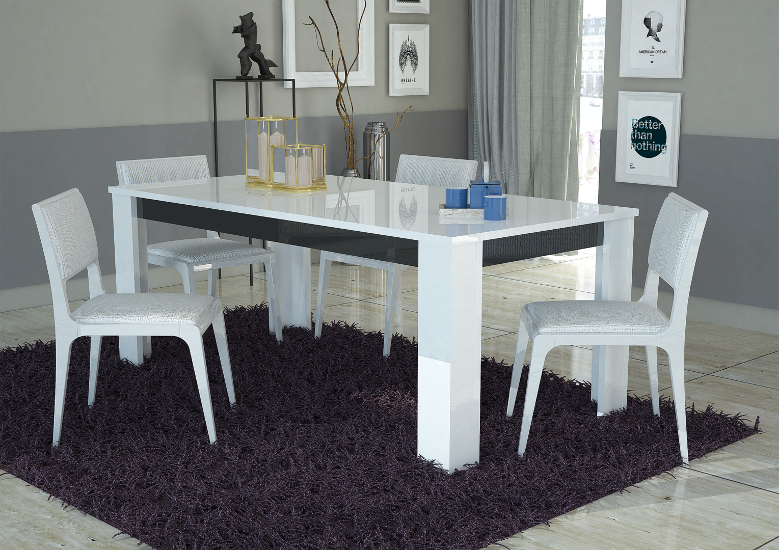 Tavolo bianco collezione avana mobile cucina sala da pranzo - Tavolo sala da pranzo ...