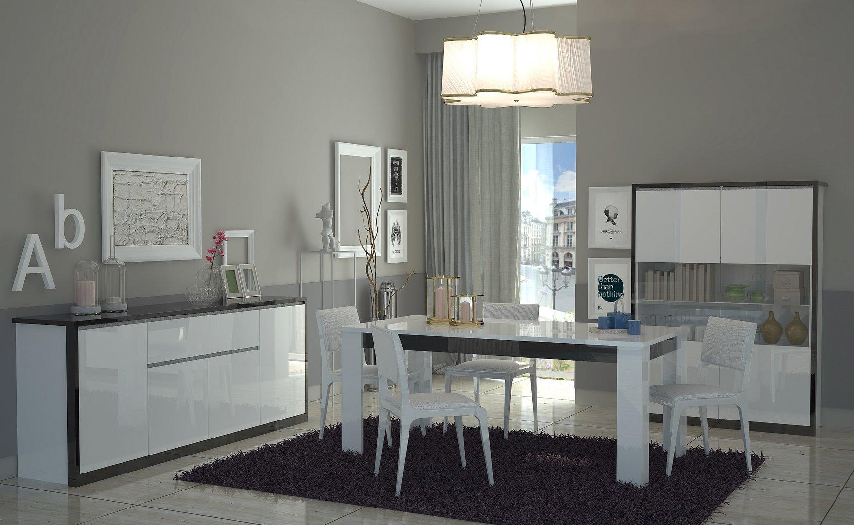 Tavolo bianco collezione avana mobile cucina sala da pranzo for Mobile tavolo