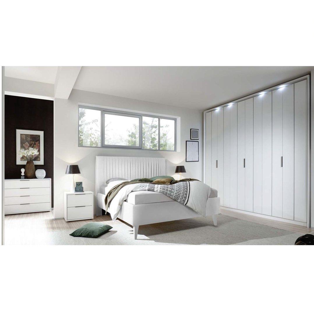 Camera da letto completa bianca Luna, letto,armadio,comò,comodini
