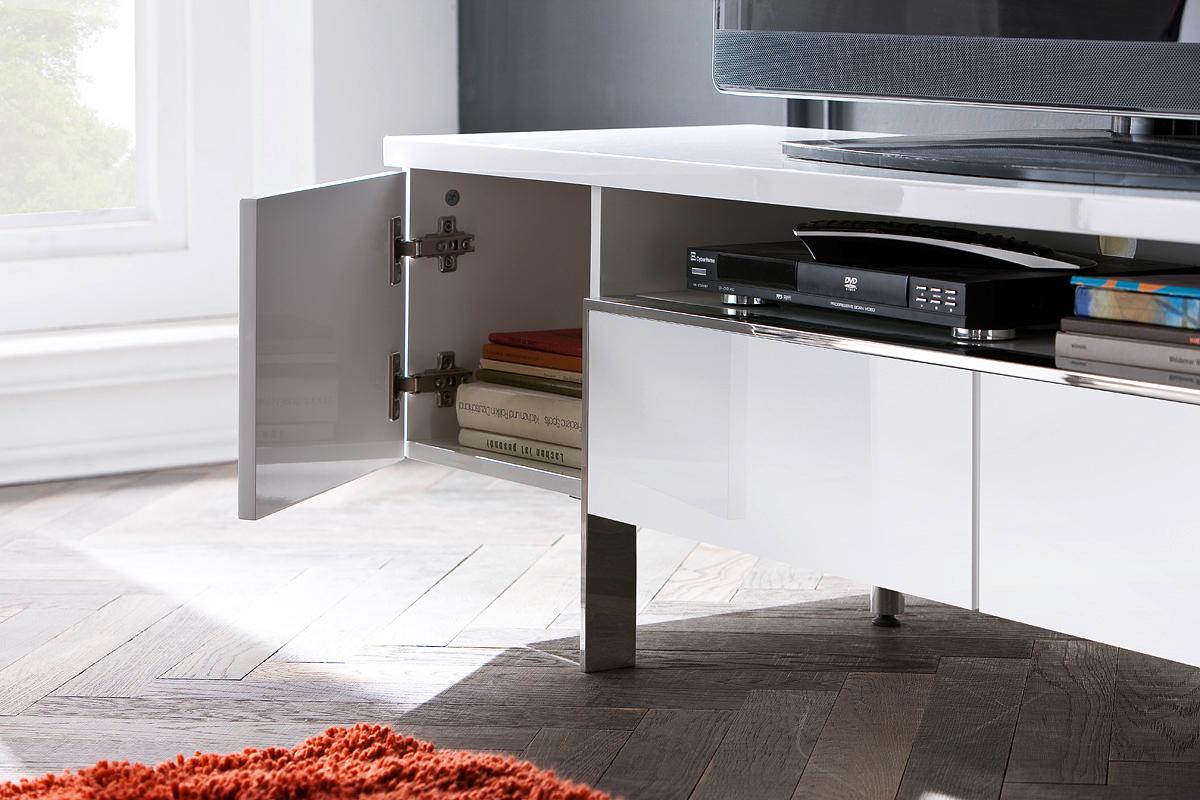 Porta tv bianco pesaro mobile soggiorno moderno portatv design - Mobile porta tv moderno design ...