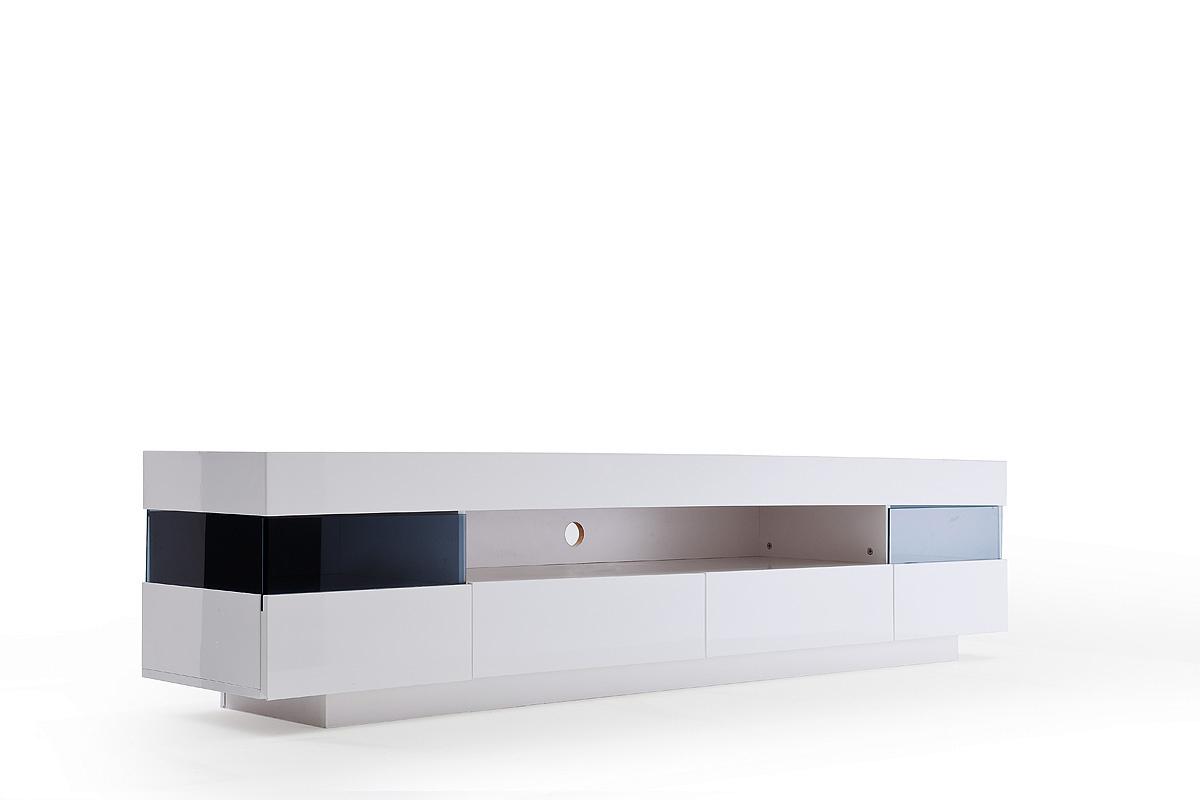 Sanremo porta tv moderno mobile soggiorno bianco con led - Illuminazione soggiorno moderno ...