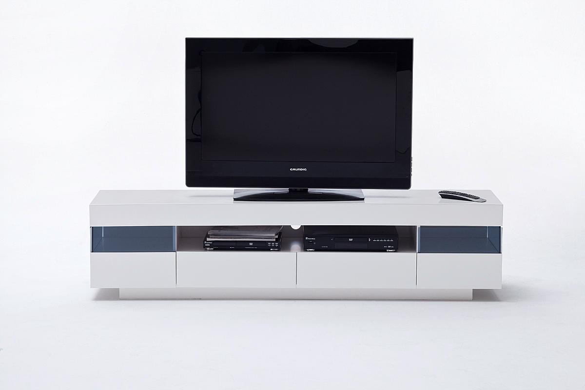 Sanremo porta tv moderno mobile soggiorno bianco con led for Mobile soggiorno moderno bianco