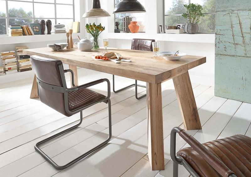 Tavolo da pranzo monviso mobile legno massiccio design for Tavoli da cucina design
