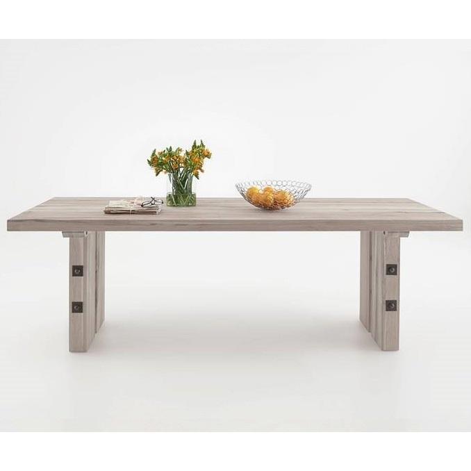 Tavolo in legno massiccio Adamello, mobile per cucina, soggiorno