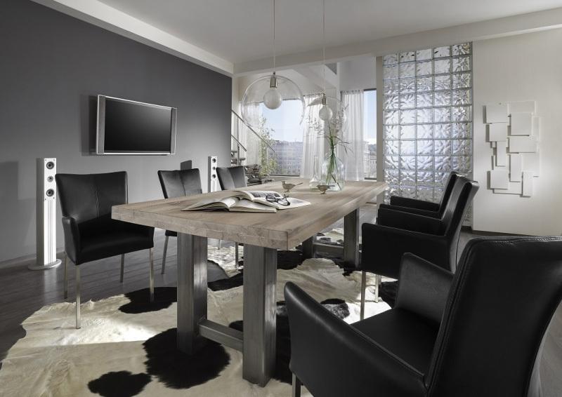 Tavolo in legno massiccio brennero per cucina soggiorno sala - Soggiorno e sala da pranzo ...