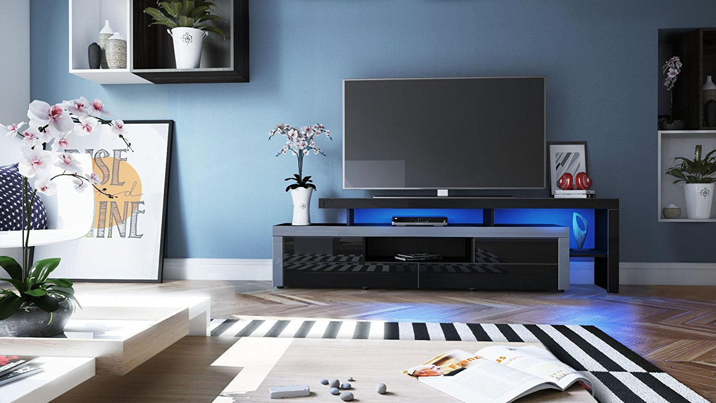 Portofino mobile porta tv moderno nero per soggiorno design for Nuovo design per l inghilterra