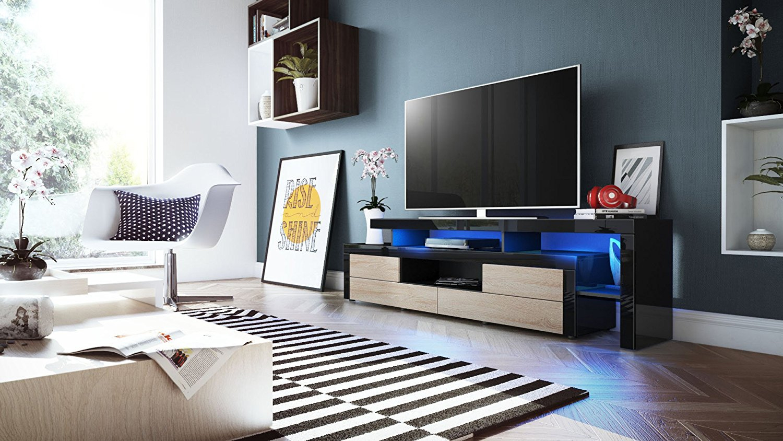 Portofino mobile porta tv moderno nero per soggiorno design - Mobile moderno per soggiorno ...