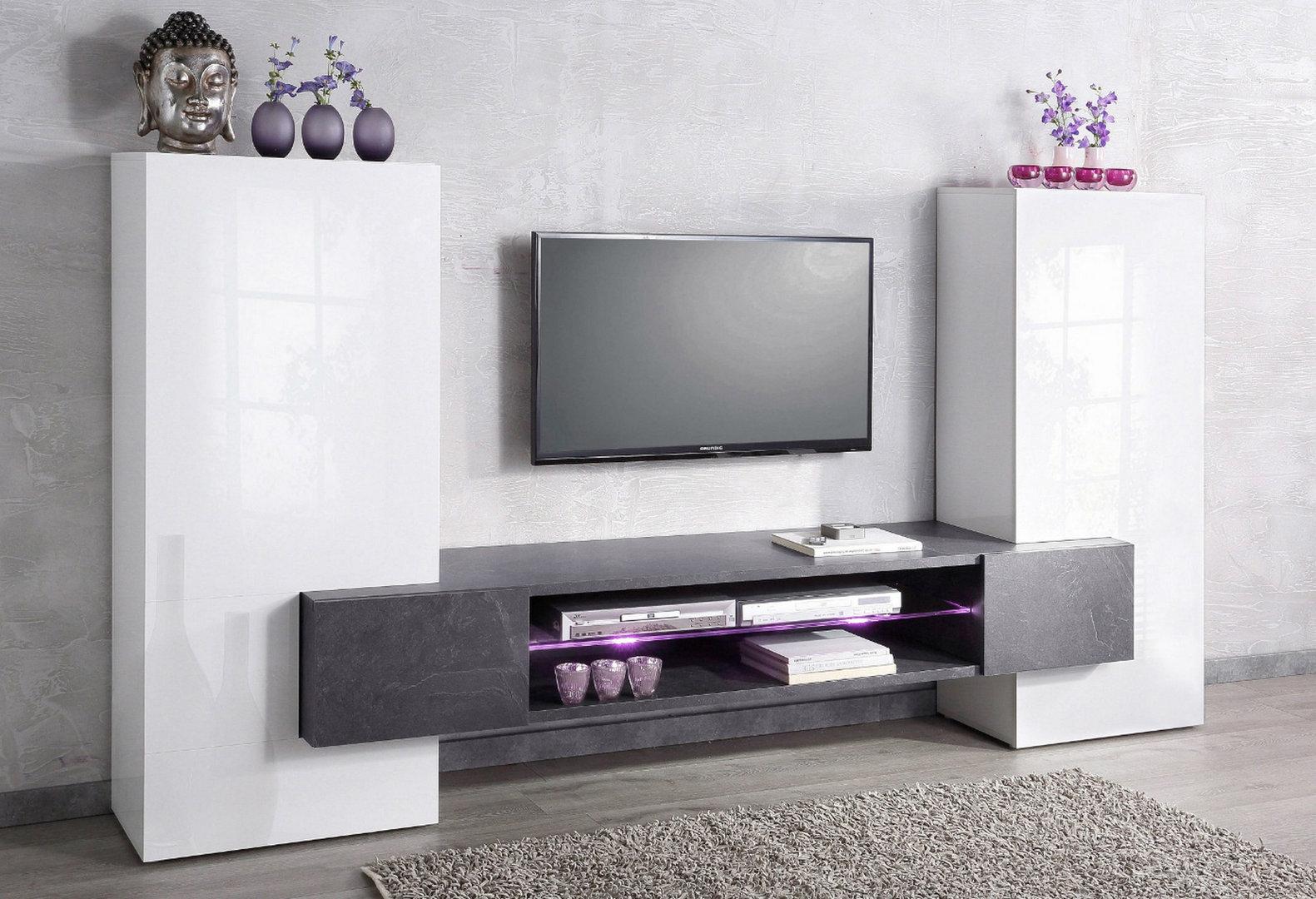 Soggiorno moderno Luing Jo, mobile bianco, composizione design porta ...