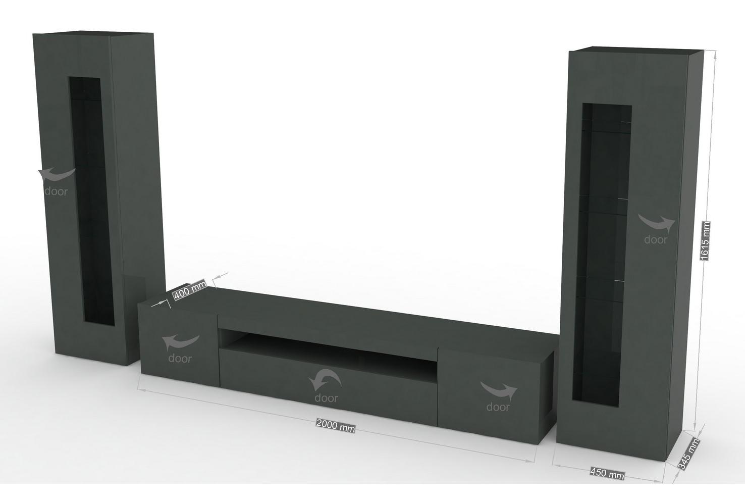 mobile soggiorno tower, porta tv e vetrine moderne, soggiorno - Vetrine Moderne Da Soggiorno