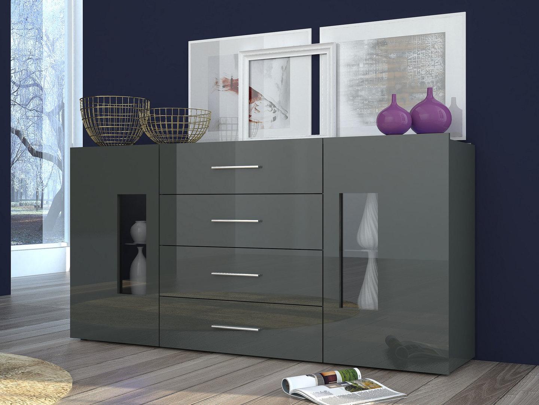Madia Soggiorno Moderno : Mobile soggiorno moderno tower madia credenza con vetrine