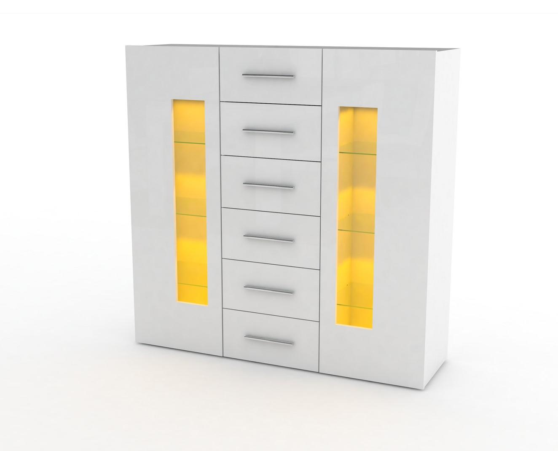 Credenza Moderna Con Vetrina : Credenza moderna tower up mobile soggiorno sala in colori