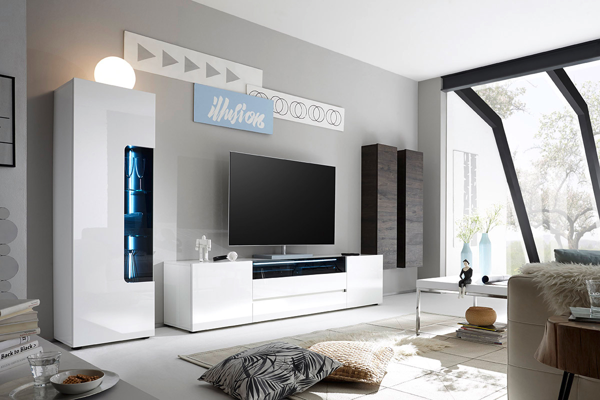 Colonna appesa secret mobile soggiorno sospeso o appoggiato for Mobili salotto design