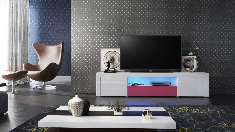 mobile diego pt2, porta tv in 13 colori design, per soggiorno - Soggiorno Fucsia