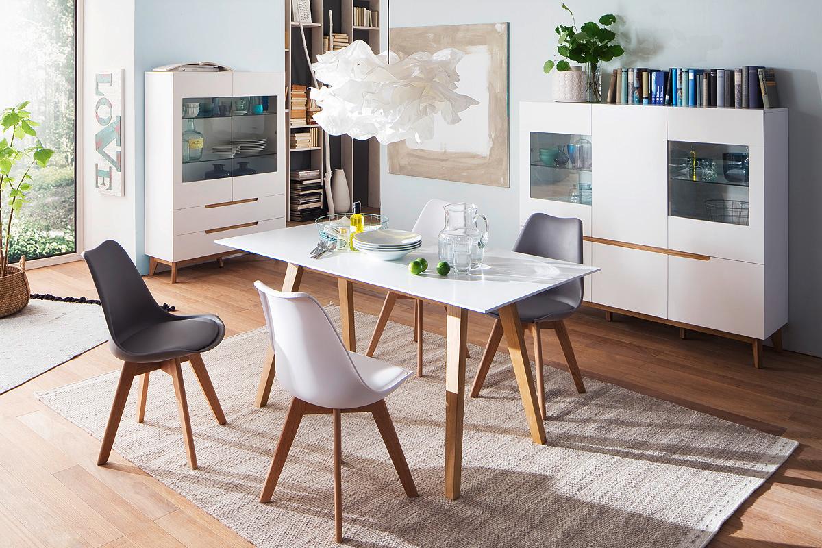 Alce porta tv bianco opaco e rovere mobile soggiorno moderno for Mobile sala moderno