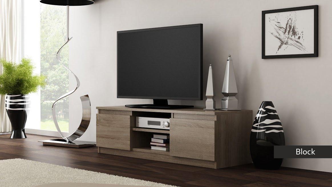 Porta tv moderno Block, mobile soggiorno in 5 colori a scelta