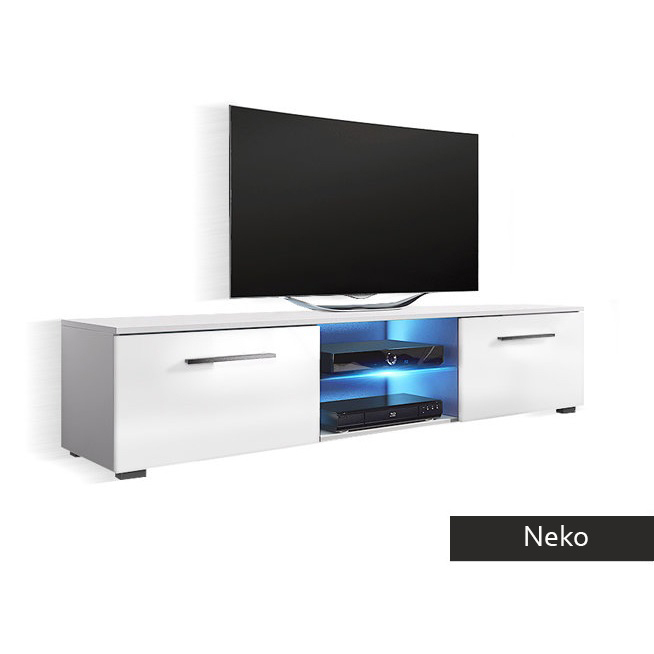 Mobile porta tv bianco, nero, rovere Neko, portatv con led per soggiorno  design