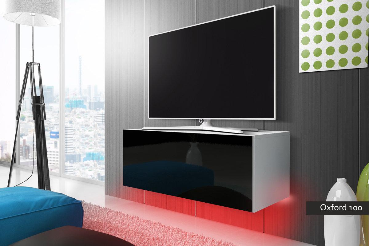 Porta tv oxford 100 mobile moderno for Meuble tv suspendu 100 cm