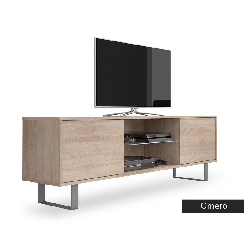 Mobile per tv moderno Omero, porta tv in 5 colori, portatv per soggiorno  con led