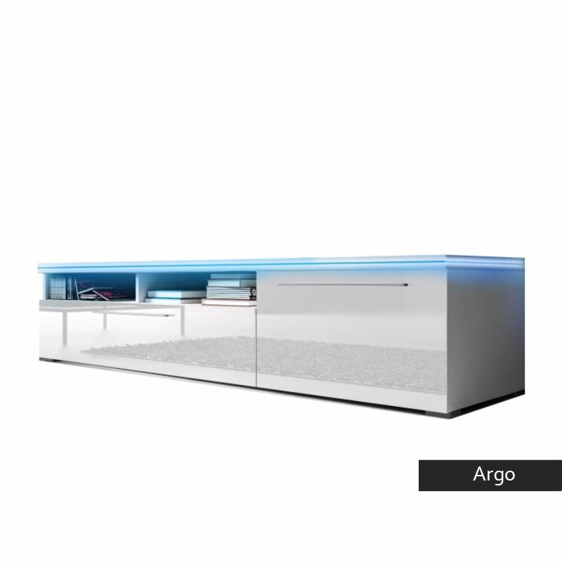Mobile porta tv Argo, per soggiorno moderno design bianco o nero
