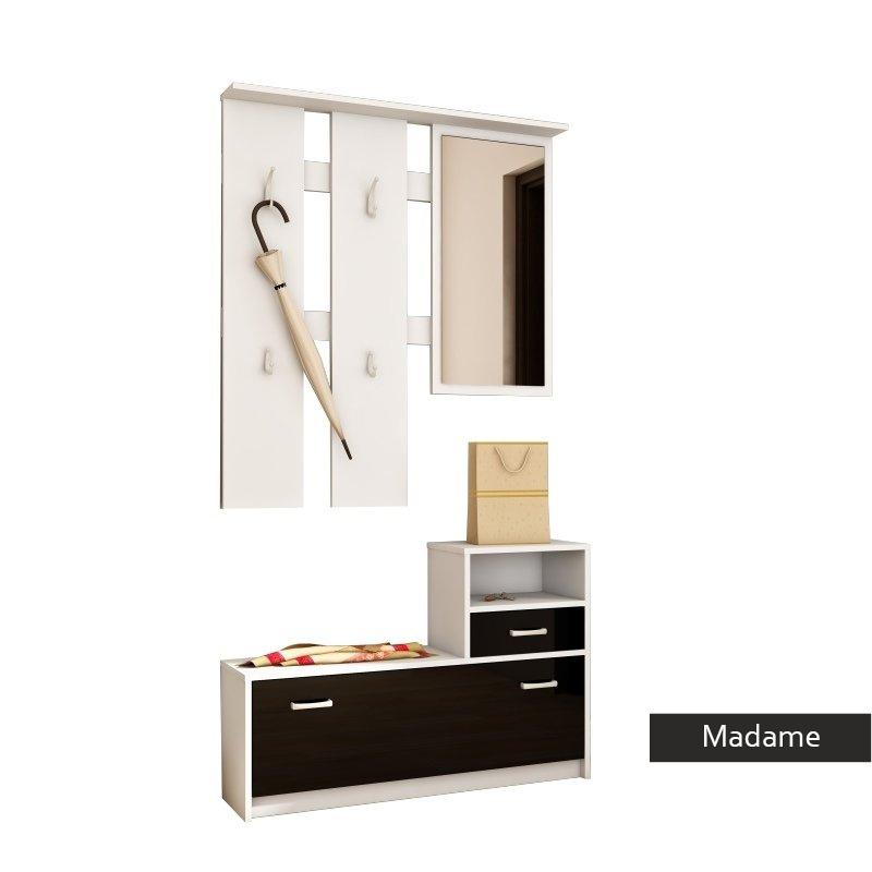 Appendiabiti Ingresso.Mobile Appendiabiti Per Entrata Madame Corridoio Ingresso In 3 Colori Con Specchio