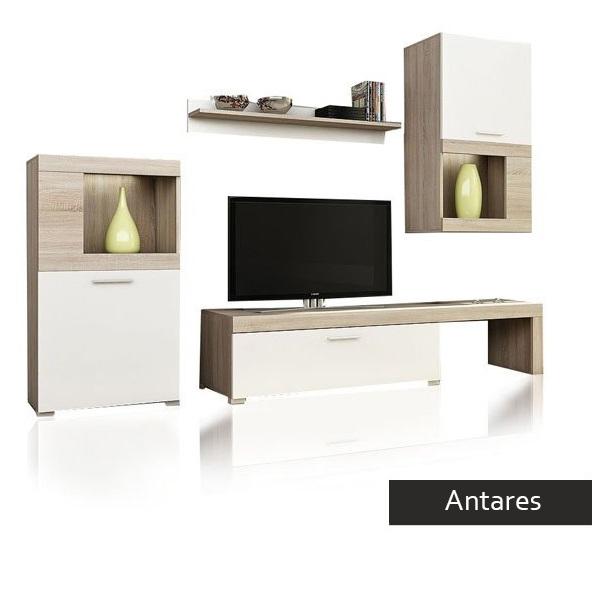 Soggiorno bianco e rovere antares mobile porta tv for Mobile parete tv