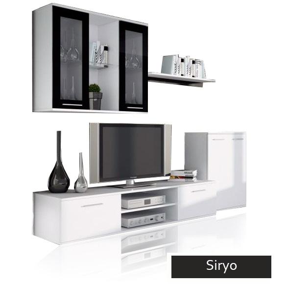 Mobile porta tv moderno siryo composizione soggiorno grande for Mobili sala angolari