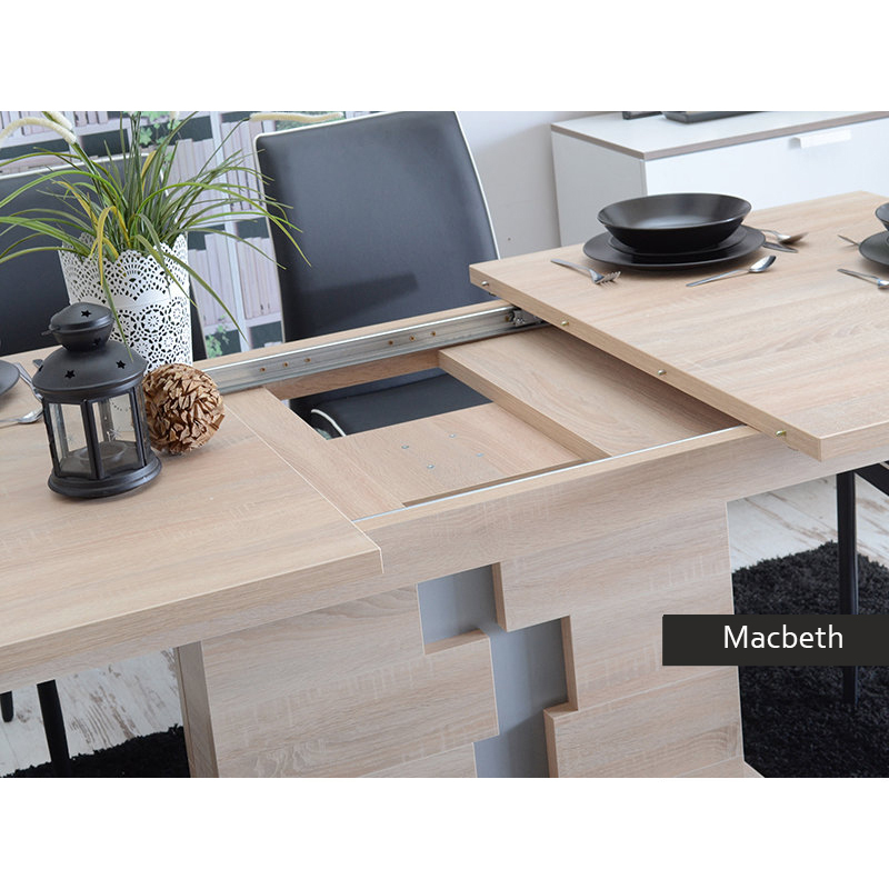 Tavolo allungabile moderno macbeth per cucina sala da pranzo - Meccanismo per tavolo allungabile ...