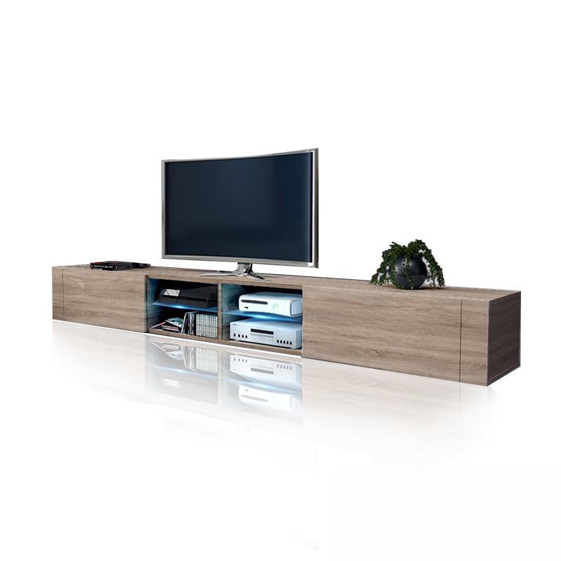 Mobile soggiorno tokyo 2 0 porta tv moderno con led 200 cm for Mobili sala angolari