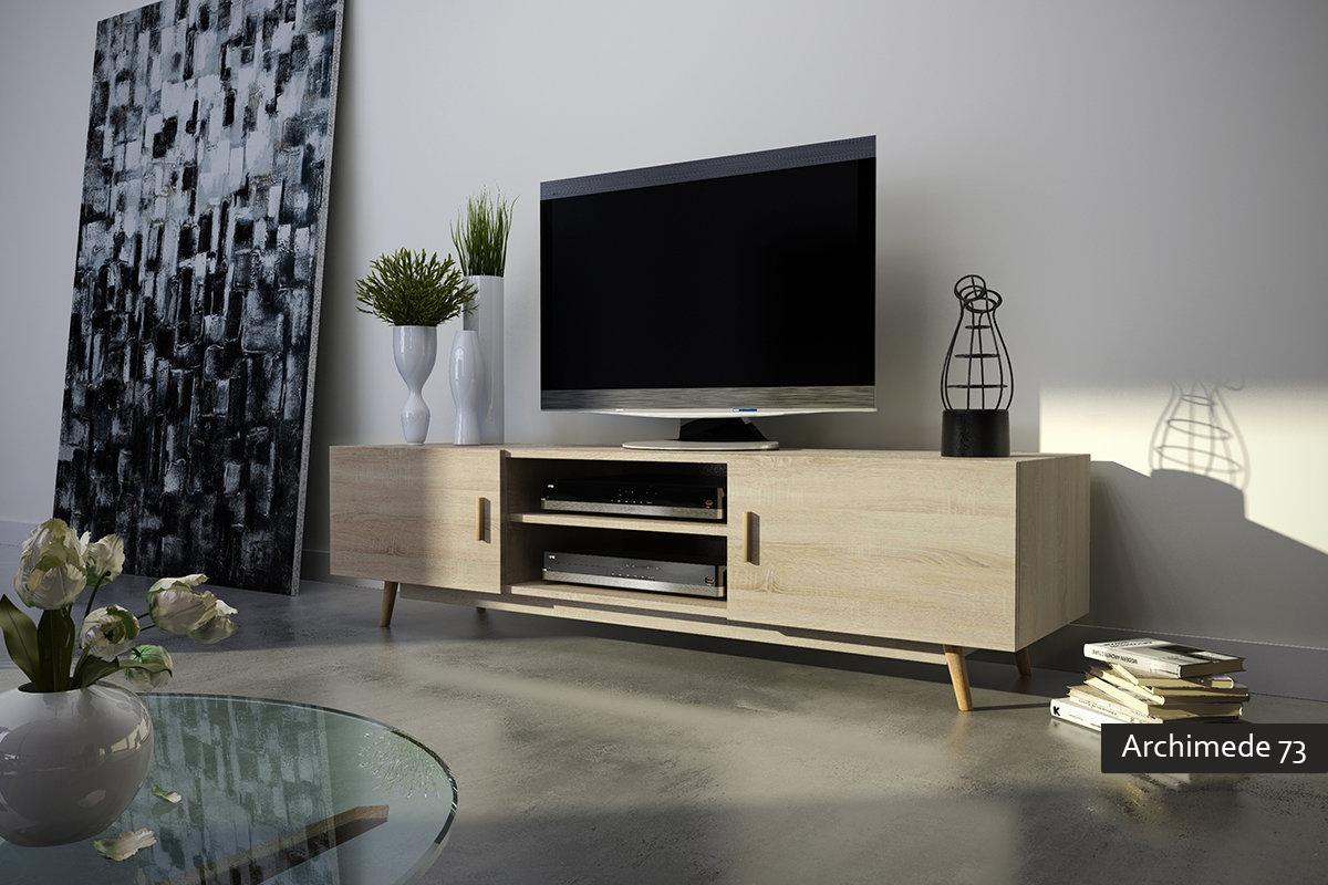 archimede 73 mobile porta tv moderno per soggiorno - Soggiorno Nordico