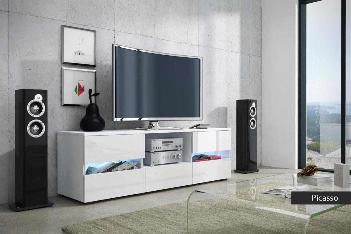Porta tv picasso mobile soggiorno moderno in 5 colori nuovi for Mobile moderno