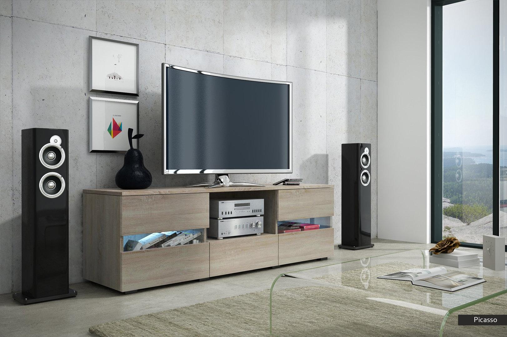 Porta tv picasso mobile soggiorno moderno in 5 colori nuovi - Soggiorno porta tv ...