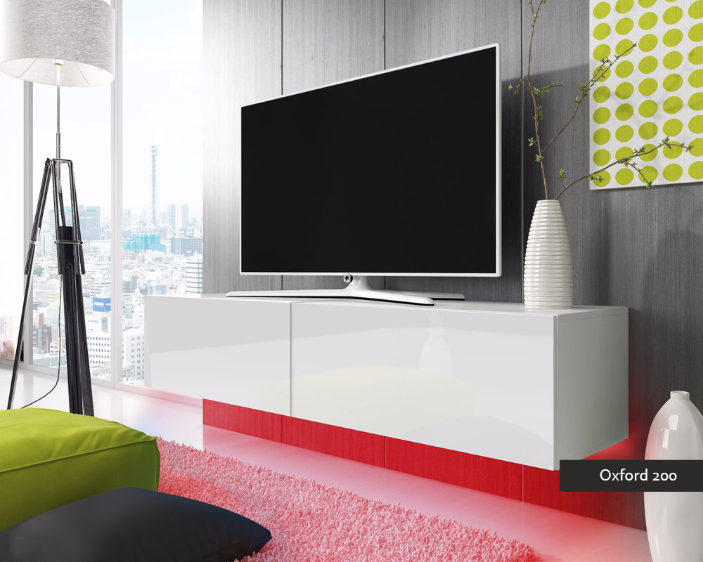 Porta tv oxford 200 soggiorno con led blu o rosse mobile - Mobile tv moderno ...