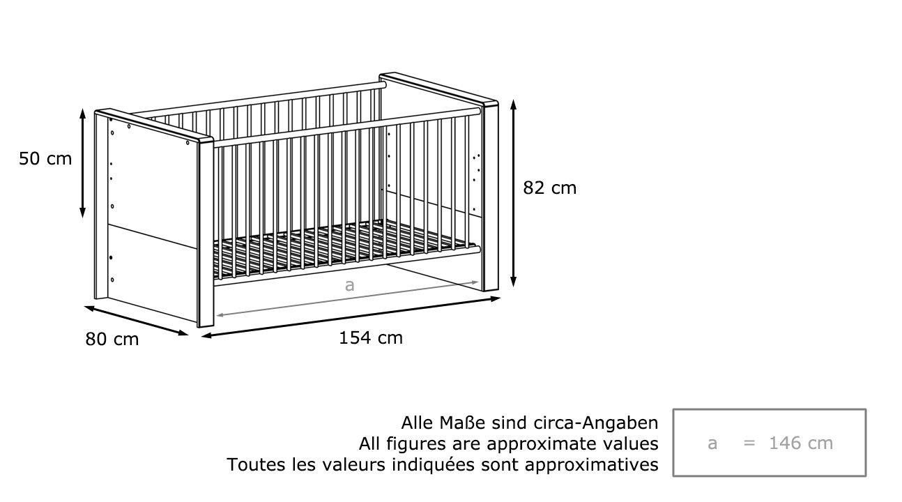 Lettino bianco baby mobile cameretta bimbi culla letto - Culla che si attacca al letto ikea ...