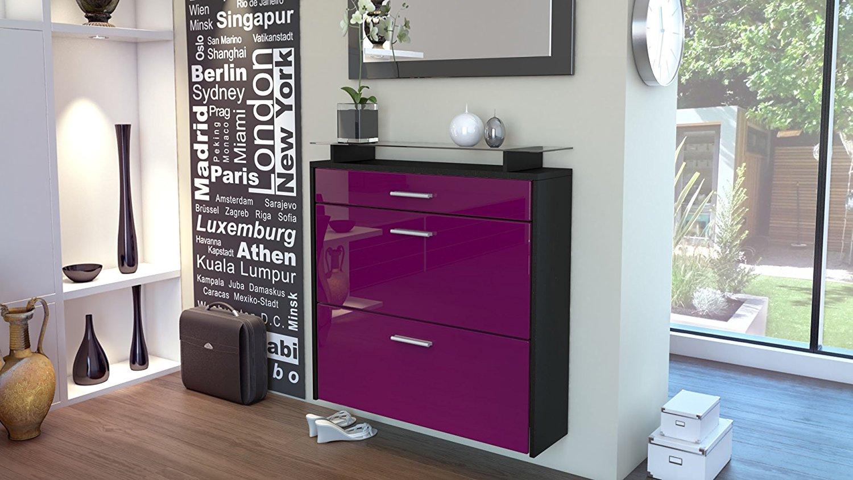 Scarpiera da appendere nera brina mobile in 15 colori design - Scarpiera moderna design ...