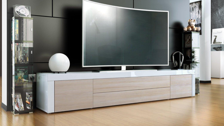 Umago porta tv in 13 colori, mobile soggiorno L 200 cm