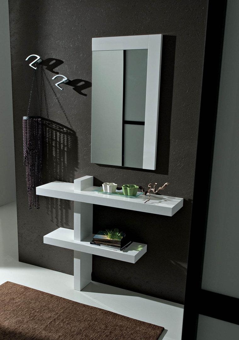 Tavolini Soggiorno Ciliegio : Entrata lena mobile moderno con specchio per corridoio