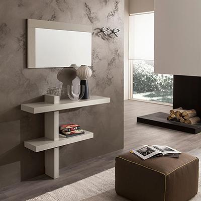 Entrata Lena, mobile moderno con specchio per corridoio, ingresso